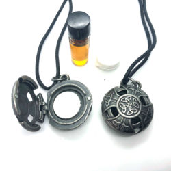 essential oils jewelry locket celtic